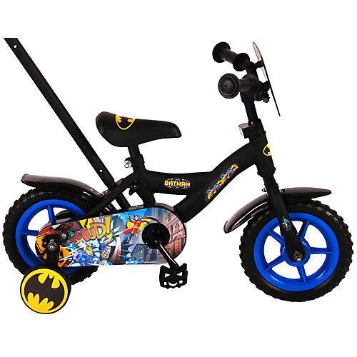 Volare Batman Kinderfahrrad - Jungen - 10 Zoll - Schwarz rot