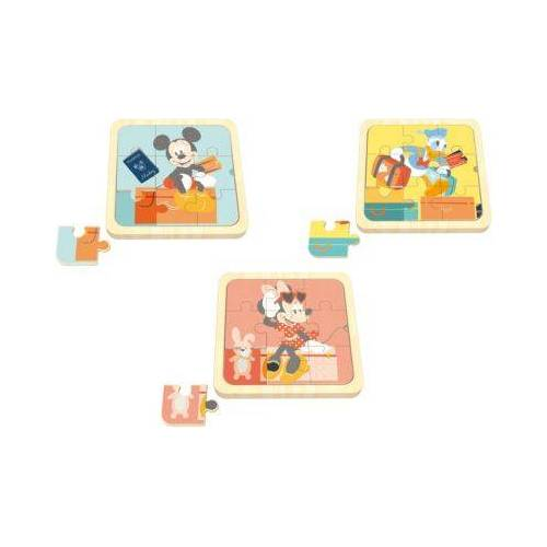 Disney Mickey Mouse & friends 3 in1 Mini Puzzle, Mickey Mouse, Minnie Mouse, Donald Duck