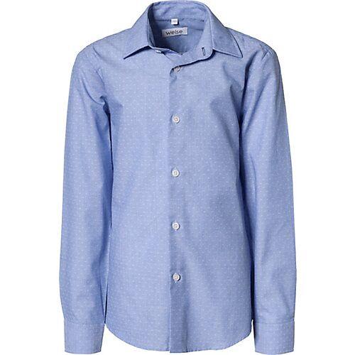 Weise Langarmhemd mit Kentkragen , Slim Fit blau Jungen Kinder