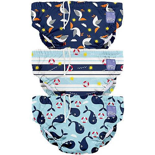 Bambino Mio Schwimmwindel, blau, Gr. L, 1-2 Jahre, 3er Packung