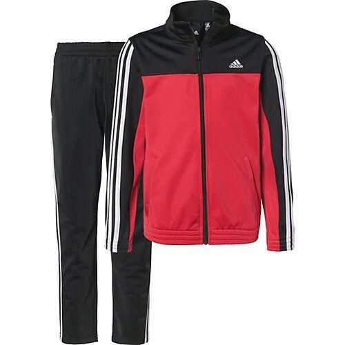 adidas Performance Trainingsanzug OSR YB 3S TS  schwarz/rot Jungen Kinder