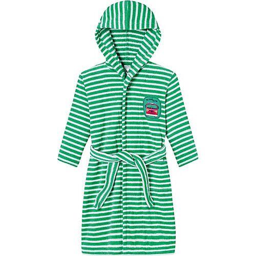 SCHIESSER Kinder Bademantel grün