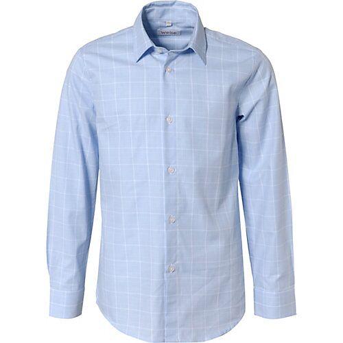 Weise Langarmhemd mit Kentkragen , Slim Fit blau/weiß Jungen Kinder