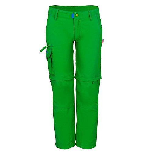 TROLLKIDS Zip-Off Hose Oppland Outdoorhosen Kinder grün  Kinder