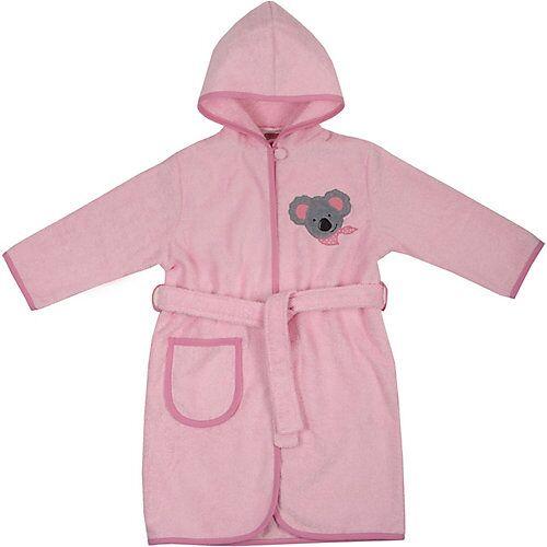 Bademantel mit Kapuze Koala, rosa Mädchen Baby