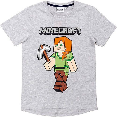 Minecraft T-Shirt Minecraft grey 116cm grau Jungen Kinder