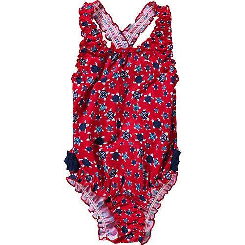 fashy Kinder Badeanzug rot Mädchen Kleinkinder