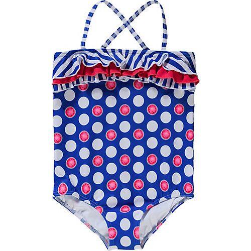 fashy Kinder Badeanzug blau Mädchen Kleinkinder