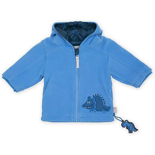 sigikid Fleecejacke mit Kapuze  blau Jungen Baby