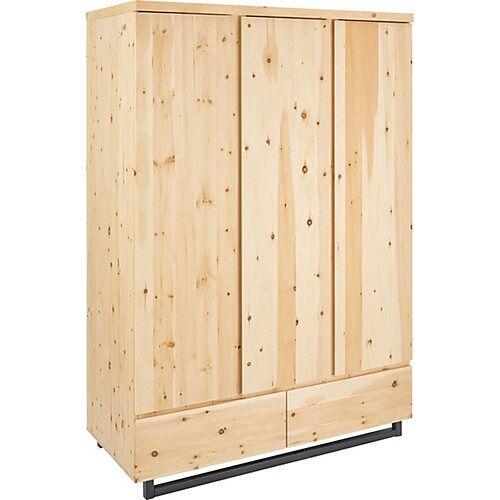 Schardt Kleiderschrank Zirbenholz, 3 Türen