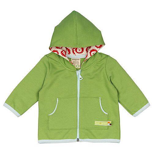 loud + proud Jacke Sweat Sweatjacken grün