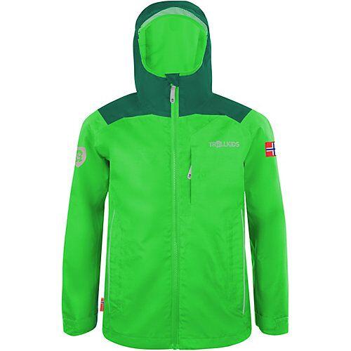 TROLLKIDS Regenjacke Kids Bergen Jacket dunkelgrün