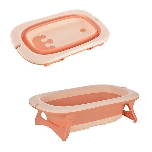 HOMCOM Ergonomische Babybadewanne rosa