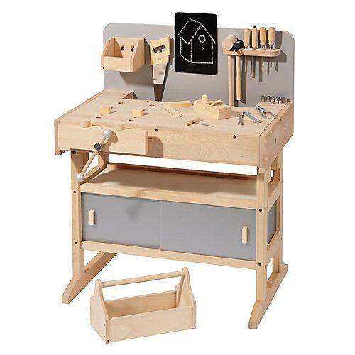 howa Werkbank incl. Werkzeugkiste mit Werkzeug natur