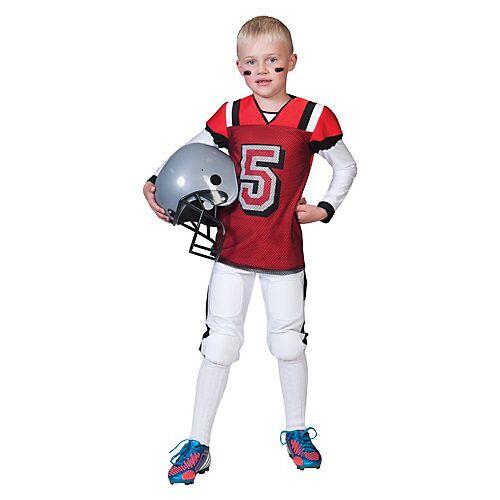 Funny Fashion Kostüm Footballspieler rot/weiß Jungen Kinder