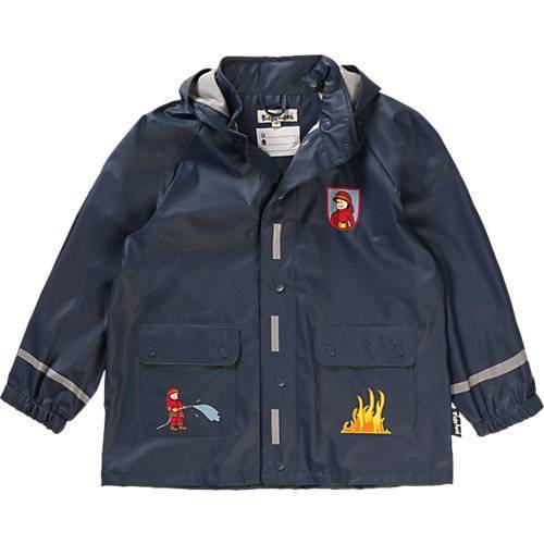 PLAYSHOES Kinder Regenjacke Feuerwehr  dunkelblau Jungen Baby