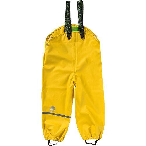 CeLaVi Kinder Regenhose mit Latz gelb