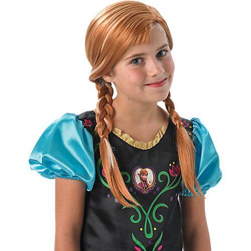 Rubie´s Perücke Eiskönigin Anna Mädchen Kinder