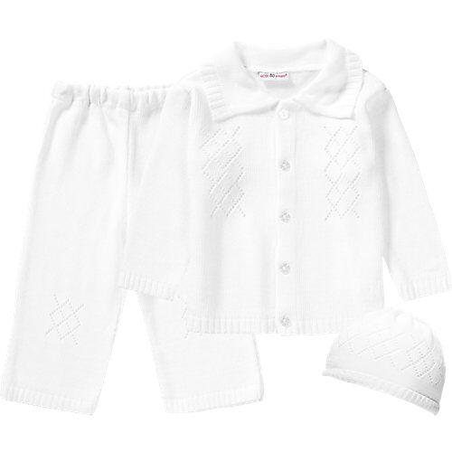 HOBEA-Germany HOBEA Set Baby Taufanzug Noah + Mütze  weiß Jungen Baby