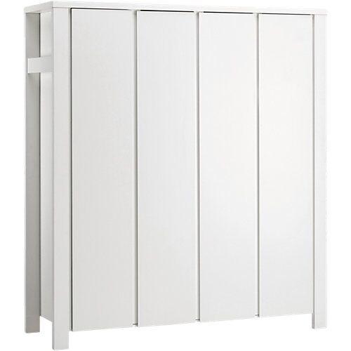 Schardt Kleiderschrank Milano Weiß, weiß, 4-türig