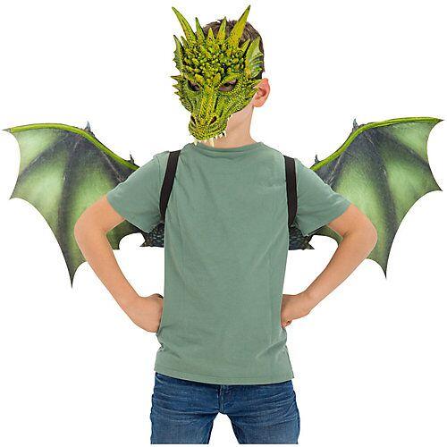 Drachen-Set (Flügel, Maske), 2-tlg. Jungen Kinder