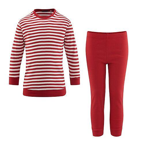 LIVING CRAFTS Schlafanzug Schlafanzüge Kinder rot/weiß  Kinder
