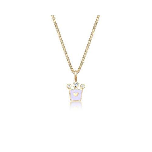 Elli Halskette Kinder Herz Krone Kristalle 925 Silber Halsketten gold Mädchen Kinder