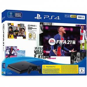Sony PS4 500 GB schwarz inkl. Fifa 21