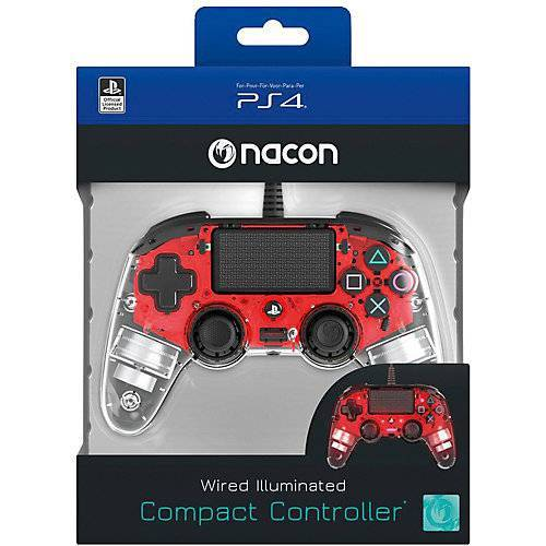 bigben PS4 Controller Light Edition (rot)