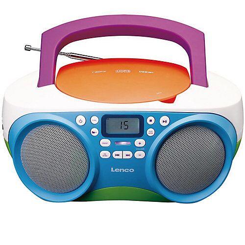Lenco SCD-41 Kids - Boombox Kinder-CD-/MP3-Player mit Radio, USB-Anschluss und Kopfhöreranschluss bunt