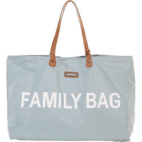 CHILDHOME Shoppingbag/Wickeltasche FAMILY BAG, grey/offwhite grau/weiß