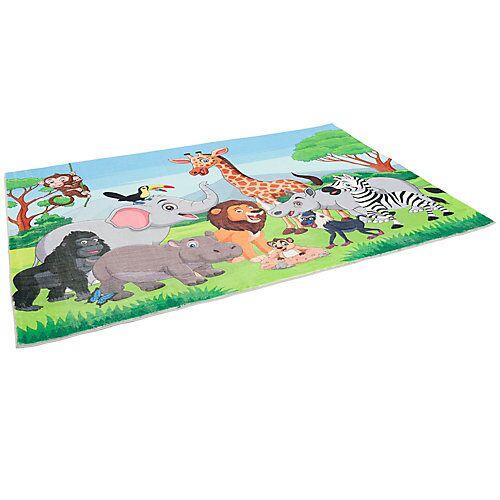Pergamon Fellteppich Plush Kids Dschungel Family Teppiche bunt