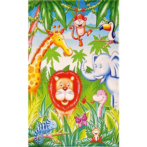 Lovely Kids Kinderteppich Lovely Kids, Dschungel Tiere, 100 x 160 cm