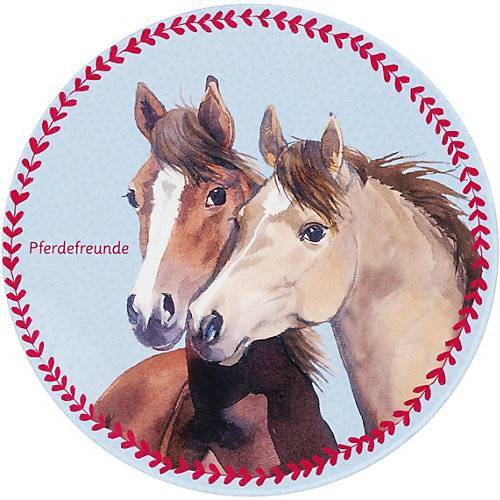 Pferdefreunde Kinderteppich Pferdefreunde, Herzen, rund, 100 cm mehrfarbig