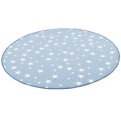 Snapstyle Kinder Spiel Teppich Sterne Rund Spielteppiche blau