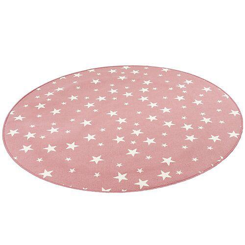 Snapstyle Kinder Spiel Teppich Sterne Rund Spielteppiche rosa
