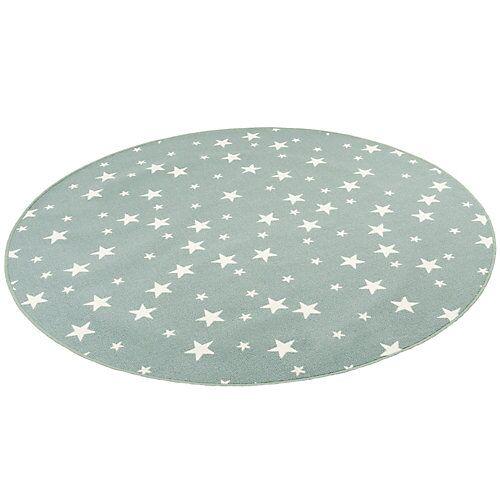 Snapstyle Kinder Spiel Teppich Sterne Rund Spielteppiche mint