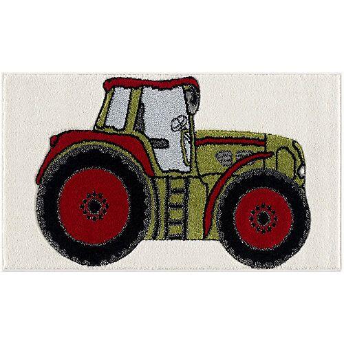 Happy Rugs Kinderteppich Traktor grün, 60 x 110 cm grün-kombi