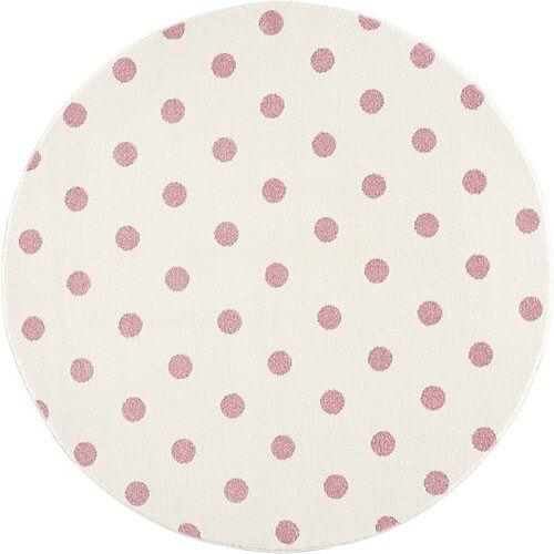 Happy Rugs Kinderteppich Circle, creme/rosa, Ø 100 cm