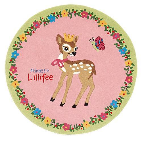 Prinzessin Lillifee Kinderteppich Prinzessin Lillifee & das Reh, 130 cm rund rosa