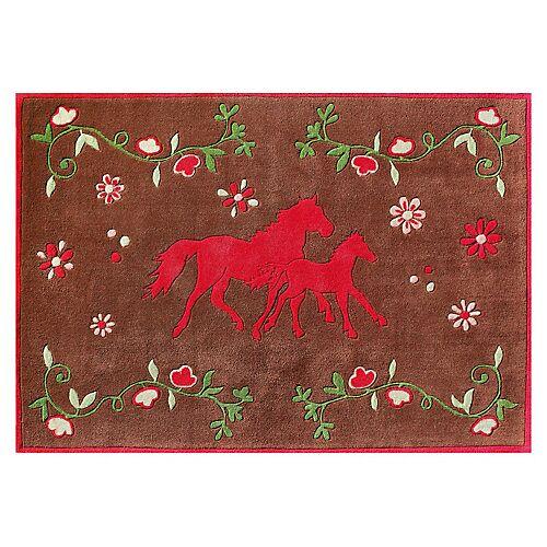 Pferdefreunde Kinderteppich Pferdefreunde Quer braun