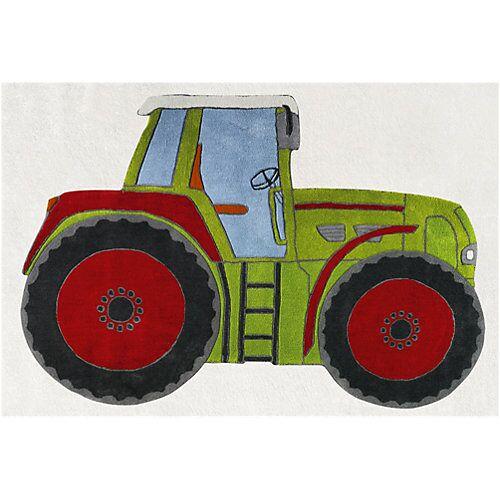 Happy Rugs Teppich, TRAKTOR, 120 x 180 cm grün
