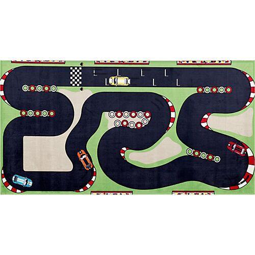 BC kids Spielteppich Auto Rennstrecke, 80 x 150 cm mehrfarbig