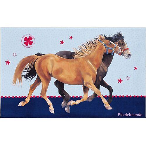 Pferdefreunde Kinderteppich Pferdefreunde, blau, 140 x 200 cm