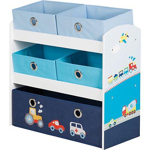 Roba 5 Boxen Regal, RENNFAHRER blau/weiß