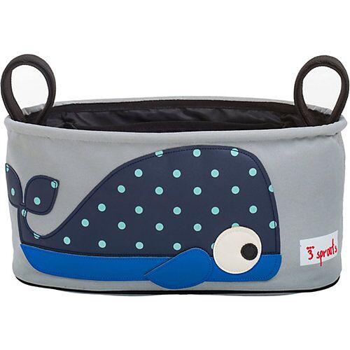 3 Sprouts Kinderwagentasche Wal, 16 x 32 cm blau