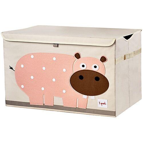 3 Sprouts Aufbewahrungskiste Hippo, 38 x 61 cm rosa