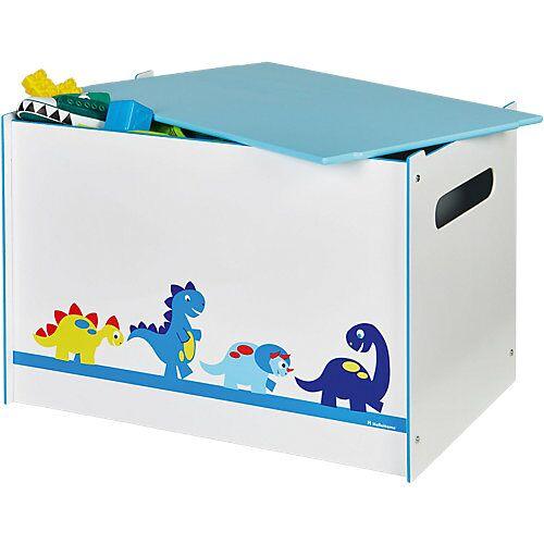 WORLDS APART Spielzeug Truhe, Dinosaurier hellblau/weiß