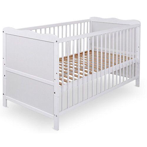Urra Kinderbett, Urra, Kiefer weiß, teilmassiv, 70 x 140 cm