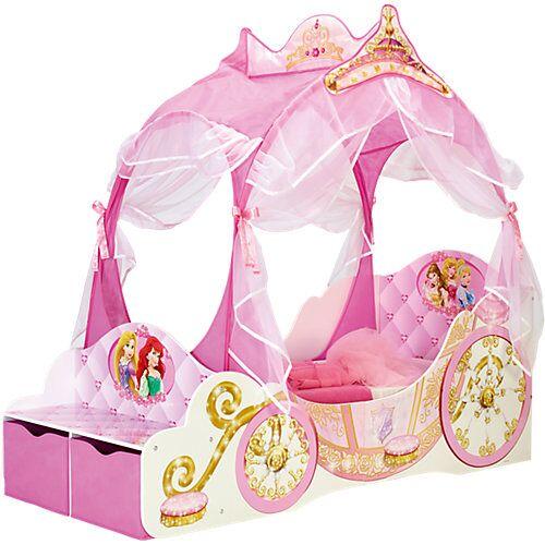 WORLDS APART Kinderbett Disney Princess Kutsche, 70 x 140 cm rosa